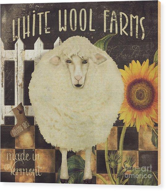 White Wool Farms Wood Print