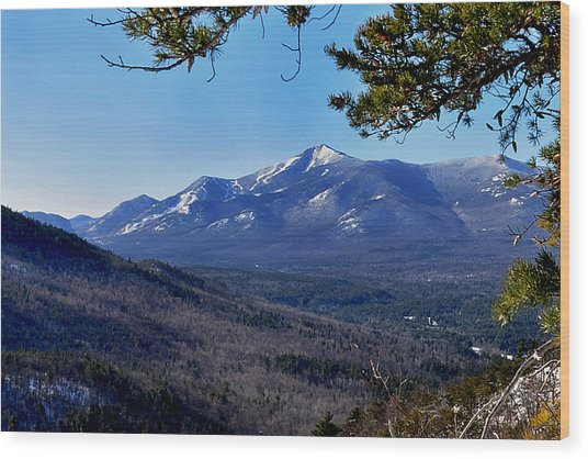 Whiteface Mt From Clark Mt. Wood Print