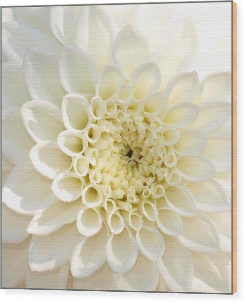 Whiteflow Wood Print