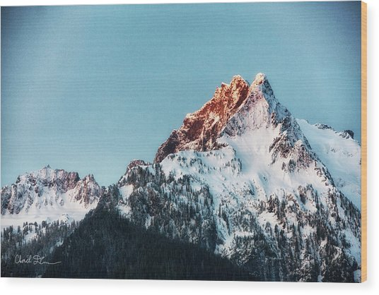 Whitehorse Sunrise Wood Print
