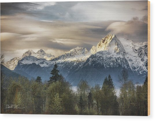 Whitehorse Sunrise, Flowing Clouds Wood Print