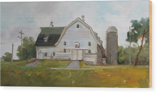 Whitehouse Dairy Barn Wood Print by Nora Sallows