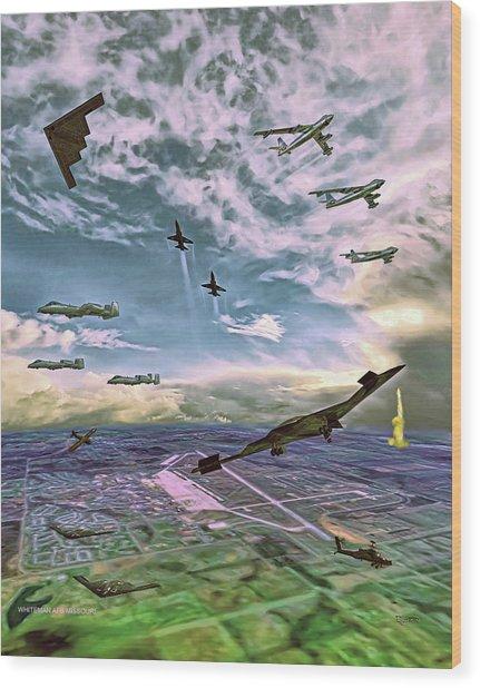 Whiteman Air Force Base Wood Print