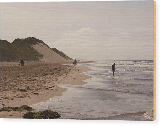 Whiterocks Beach Wood Print
