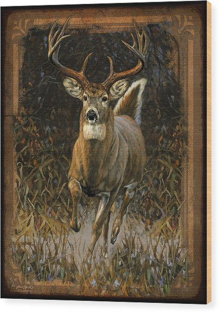 Whitetail Deer Wood Print