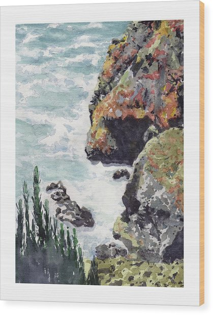 Whitewater Coast Wood Print