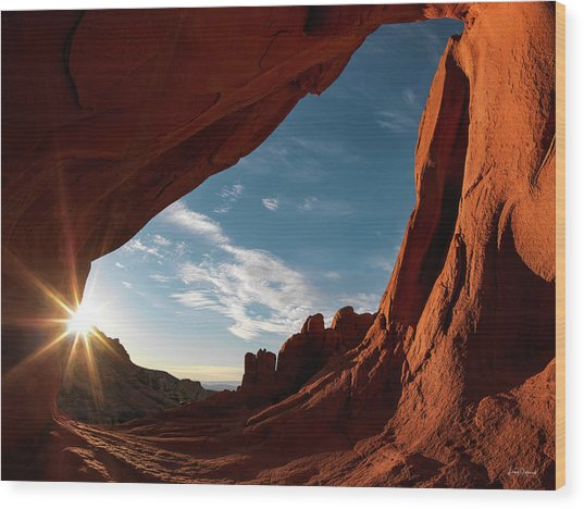 Wood Print featuring the photograph Whitney Pocket Arch by Leland D Howard