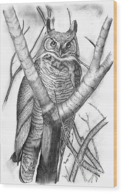 Whooo Wood Print by Russ  Smith