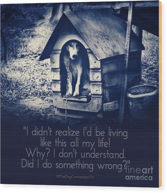 Wood Print featuring the digital art Why Am I Living Like This by Kathy Tarochione