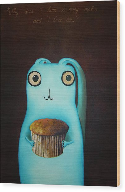 Why Does It Have So Many Moles And I Have None Wood Print by Anastassia Neislotova