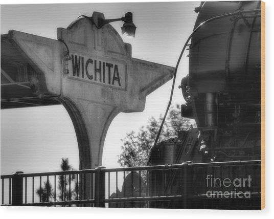 Wichita Approach Wood Print