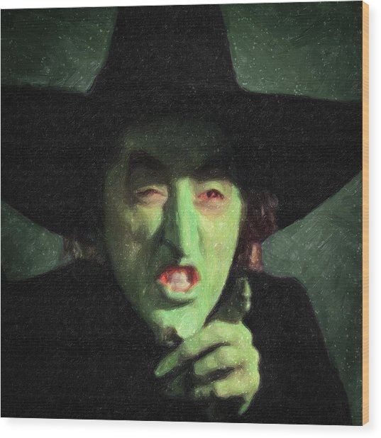 Wicked Witch Of The East Wood Print
