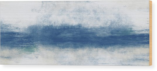 Wide Open Ocean- Art By Linda Woods Wood Print