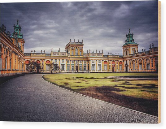 Wilanow Palace In Warsaw  Wood Print