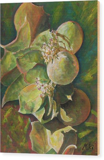 Wild Apples In Bloom Wood Print
