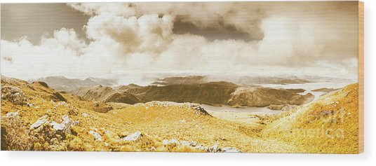 Wild Country Lookout Wood Print