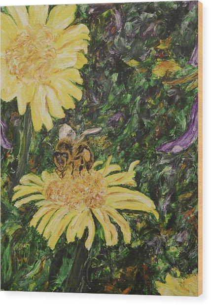 Wild Daisy Wood Print by Bonnie Peacher