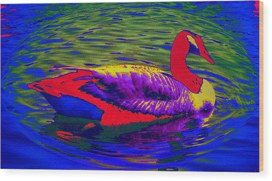 Wild Goose Wood Print by Russ Mullen