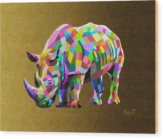 Wild Rainbow Wood Print