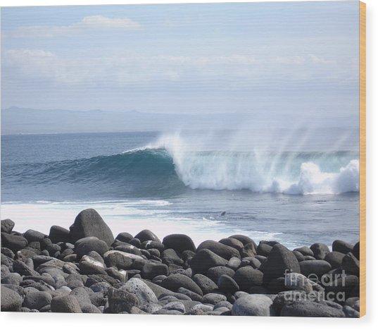 Wild Wave Wood Print by Chad Natti