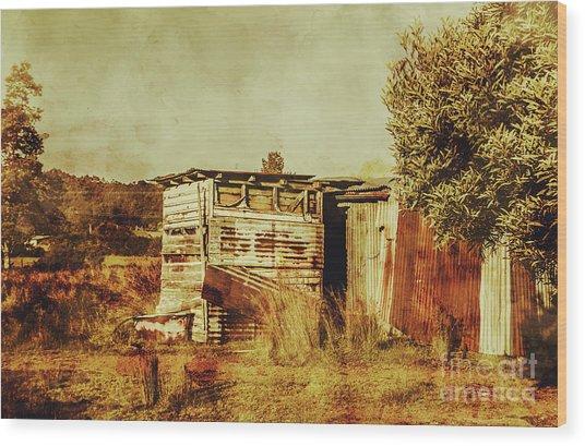 Wild West Australian Barn Wood Print