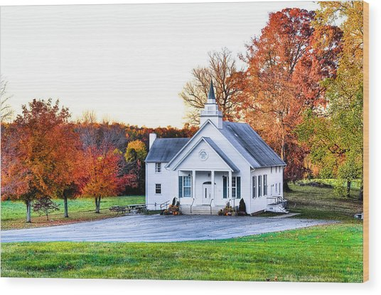 Wilderness Church Wood Print