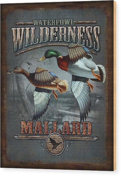 Wilderness Mallard Wood Print