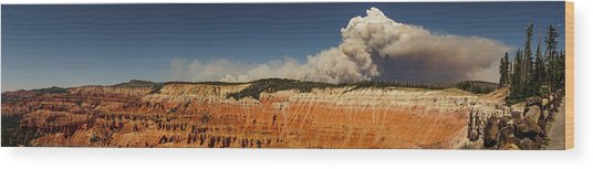 Wildfire Cedar Breaks National Monument Utah Wood Print