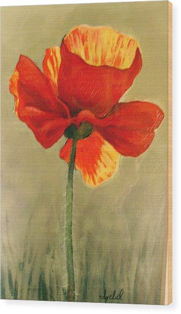 Wildflower 2 Wood Print by Ixchel Amor