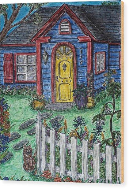 Wildflower Cottage Wood Print