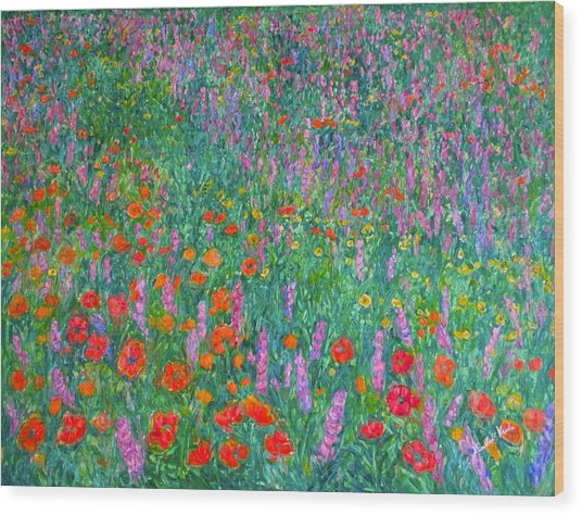 Wildflower Current Wood Print