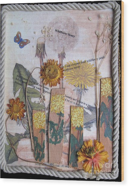 Wildflower Honey Wood Print