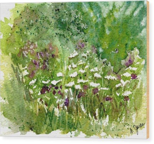 Wildflower Meadow Wood Print