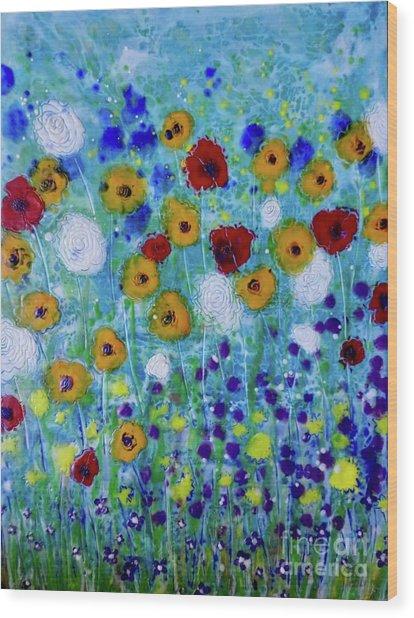 Wildflowers Never Die Wood Print