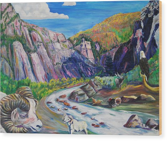 Wildlife On The Colorado River Wood Print by George Chacon