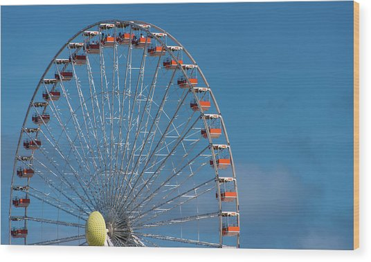 Wood Print featuring the photograph Wildwood Ferris Wheel by Jennifer Ancker