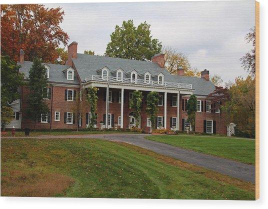 Wildwood Manor House In The Fall Wood Print