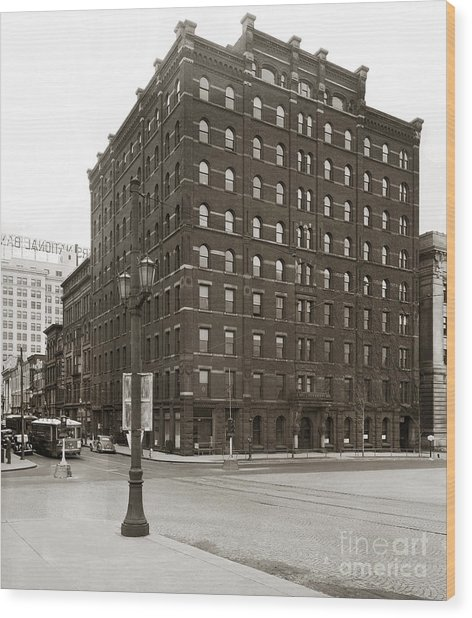 Wilkes Barre Pa Hollenback Coal Exchange Building Corner Of Market And River Sts April 1937 Wood Print