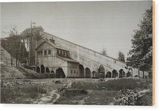 Wilkes Barre Twp Pa Empire Number 5 Coal Breaker 1880 Lehigh And Wb Coal Co. Wood Print