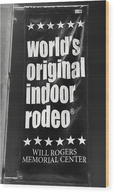 Will Rogers Rodeo Bw Wood Print