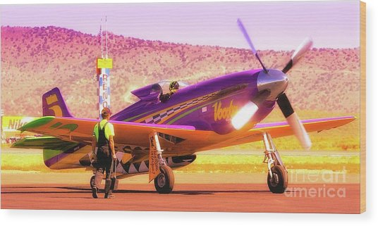 Will Whiteside And P-51 Mustang 'voodoo' Wood Print