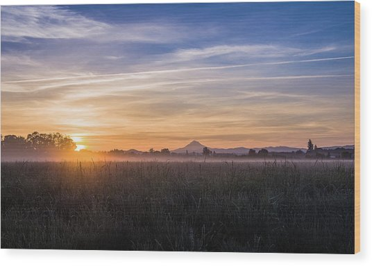 Willamette Valley Sunrise Wood Print