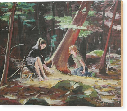 Willard Brook State Park Wood Print
