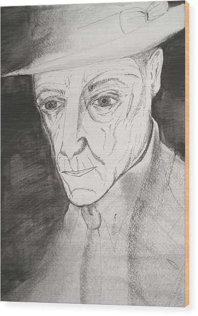William S. Burroughs Wood Print by Darkest Artist