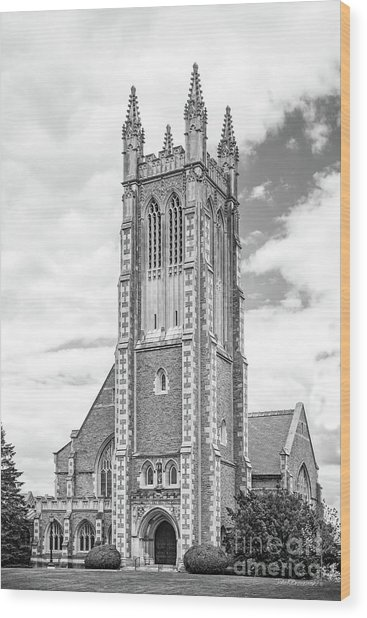 Williams College Thompson Memorial Chapel Wood Print