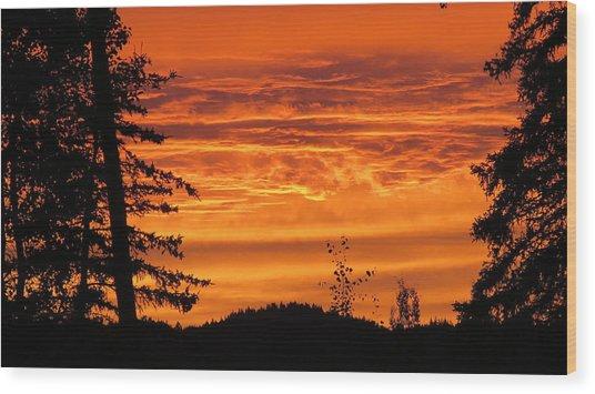 Williams Lake Wood Print