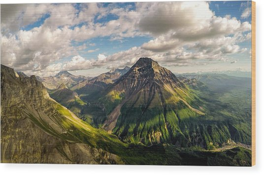Williams Peak Alaska Wood Print