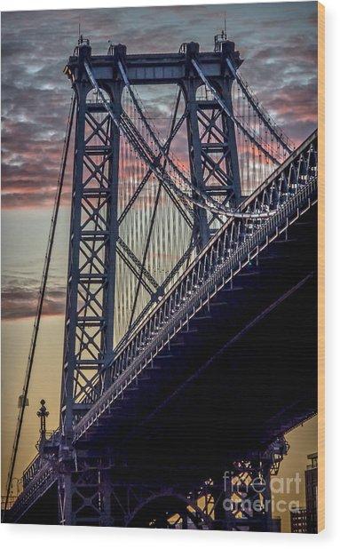 Williamsburg Bridge Structure Wood Print