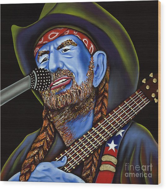 Willie Wood Print by Nannette Harris