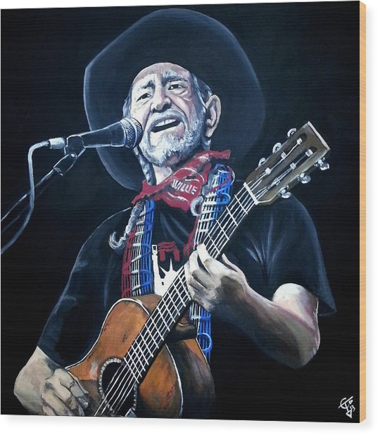 Willie Nelson 2 Wood Print